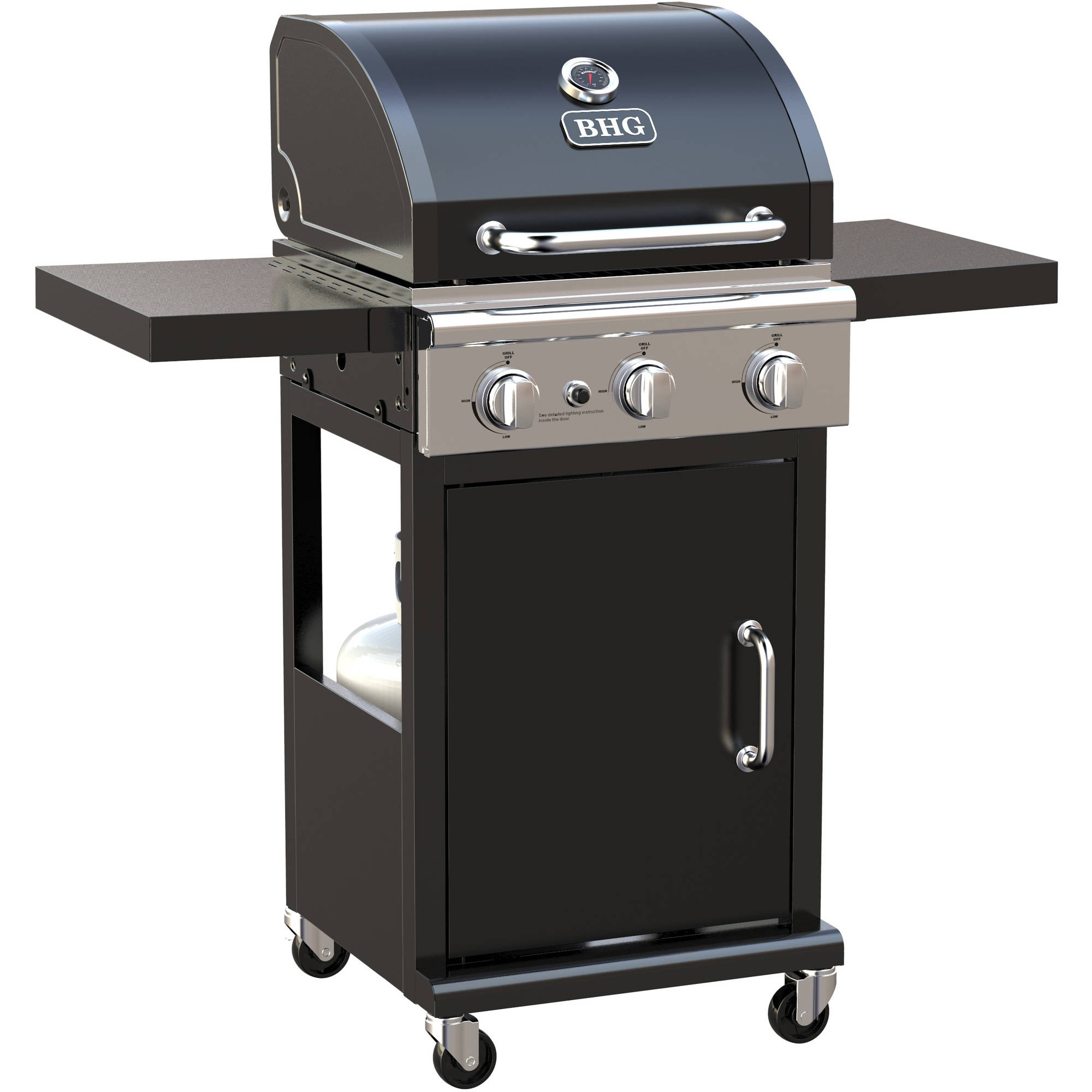 Better Homes and Gardens Stainless Steel 4 Burner Gas Grill with