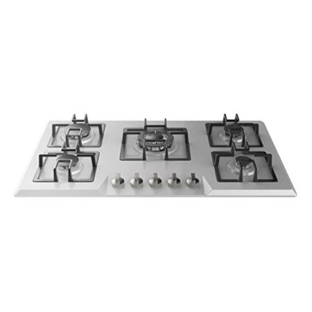 """Empava 34"""" Stainless Steel Built-in 5 Italy Siaf Burners Stove Top Gas Cooktop EMPV-34GC5B90A"""