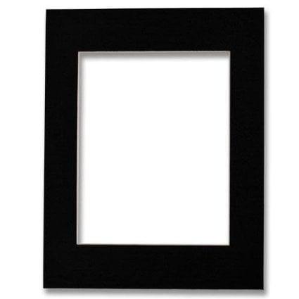 4X6  5X7 Outer  Acid Free Bevel Cut Mat   Black Color White Core