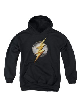Justice League Movie - Flash Logo - Youth Hooded Sweatshirt - Large