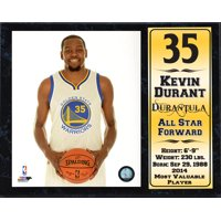12X15 Stat Plaque - Kevin Durant Golden State Warriors