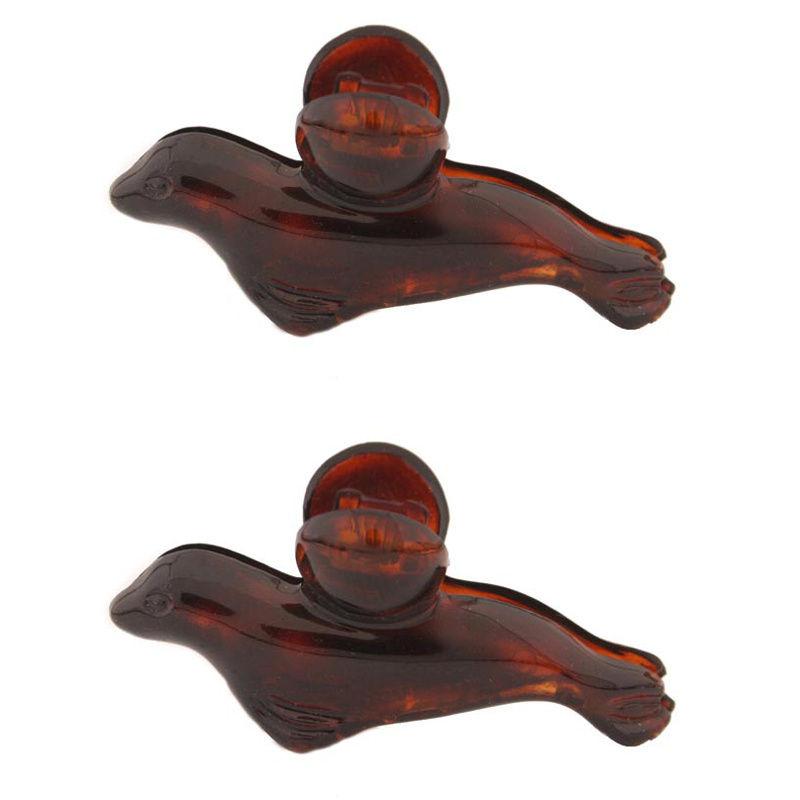 Caravan Mini Tortis Shell Seal Hair Claws Pair Model No. 1707/2