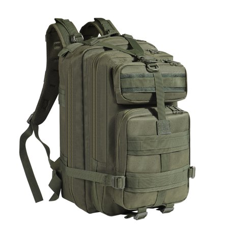 Rucksack System (Tactical Backpack (O.D Green) Large Army Assault Pack 40L w/ MOLLE Gear Attachment System, Bug-out Bag Daypack Rucksack for Outdoor Hiking Trekking Camping Hunting)