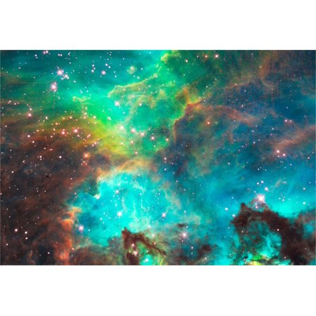 Large Poster Set - Star Cluster NGC 2074 in the Large Magellanic Cloud Hi Gloss Space Poster Fine Art Print