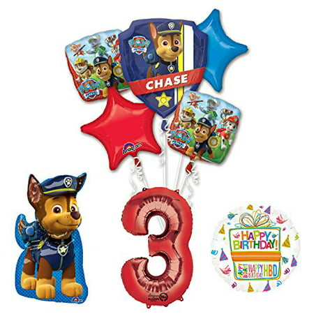 The Ultimate Paw Patrol 3rd Birthday Party Supplies and Balloon - Paw Patrol Party