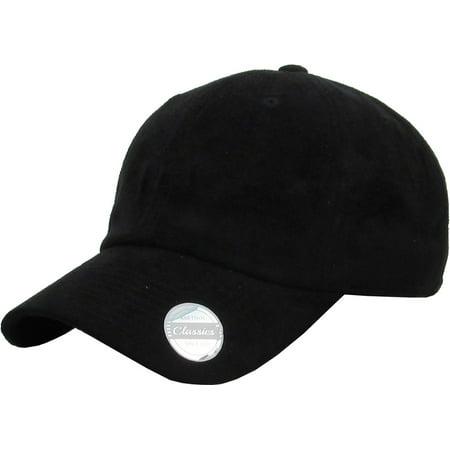SUEDE CLASSIC BASEBALL DAD HAT CAP