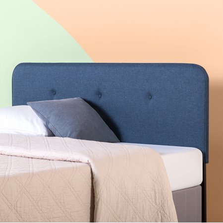 Zinus Debbie Upholstered Button Detailed Curved Headboard, Multiple Sizes and Colors ()