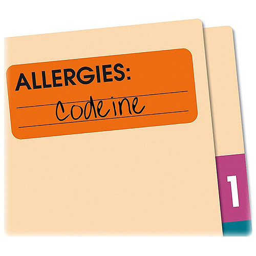 Redi-Tag Allergies Removable Adhesive Medi-Labels