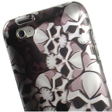 NEW BLACK SKULL CASE HARD COVER FOR APPLE iPOD TOUCH 4 4G 4TH GEN
