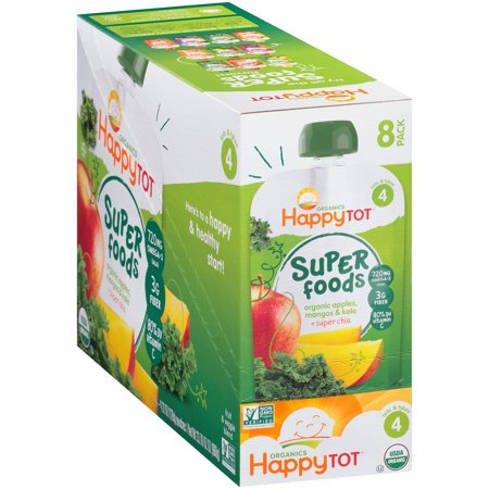Happy Tot Organics Super Foods Apples, Mangos & Kale + Super Chia Fruit & Veggie Blend 8-4.22 oz. Pouches](Happy Halloween Apples)