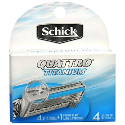 Schick Quattro Titanium Cartridges 4 Each (Pack of 2)