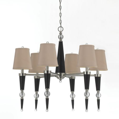 AF Lighting 8235 Six-Light Chandelier in Espresso
