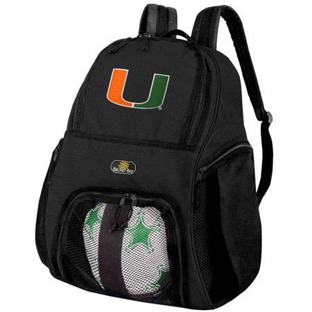 University of Miami Soccer Backpack or Miami Volleyball Bag - Volleyball Backpacks