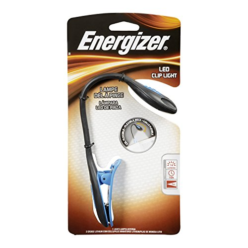 4 Pack Energizer LED Book Light, Small Portable Clip Flashlight 11 Lumens Each by