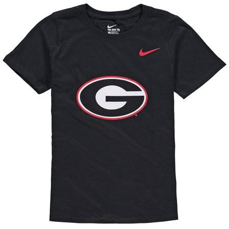 Georgia Bulldogs Nike Youth Cotton Logo T-Shirt - Black
