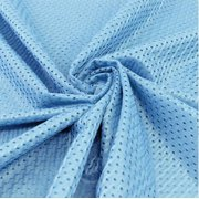 Sky Blue Football Mesh Jersey Fabric - Style# FM734702 - Free Shipping!