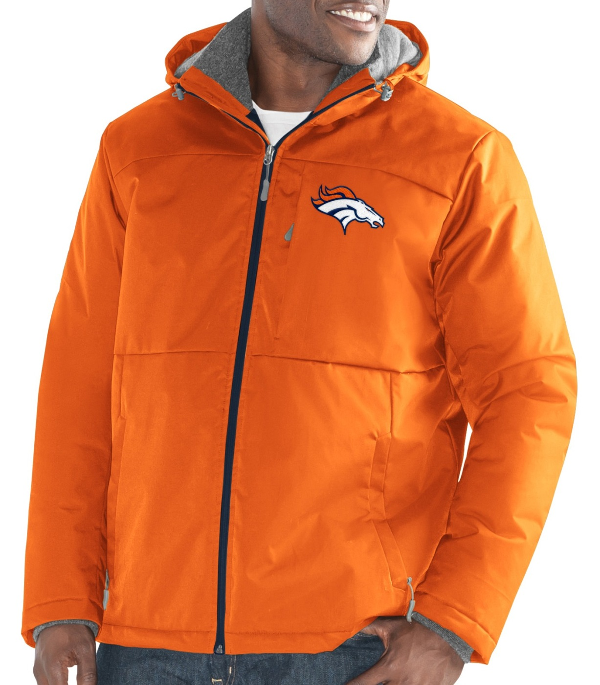 "Denver Broncos Men's NFL G-III ""Points"" Full Zip Polyfill Dobby Jacket by G-III Sports"