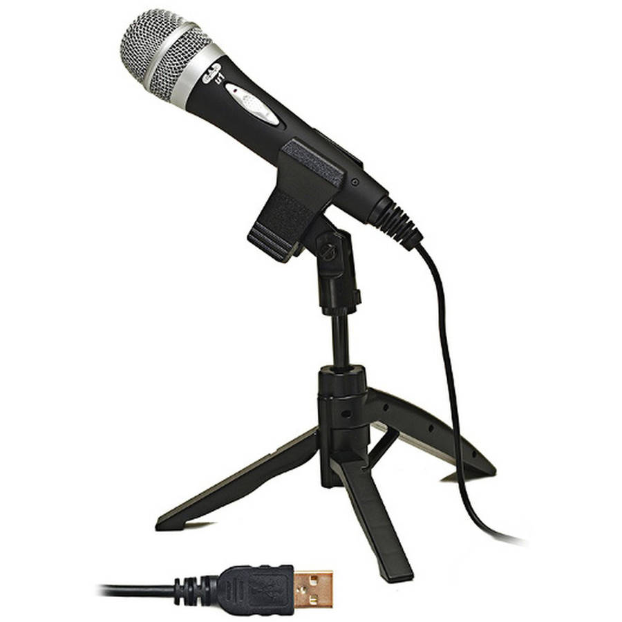 USB Cardioid Dynamic Handheld Microphone with Tripod Stand, 10' USB Cable