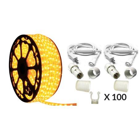 120v dimmable led amber 513pro series rope light 150ft premium kit 120v dimmable led amber 513pro series rope light 150ft premium kit aloadofball Choice Image