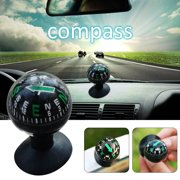 Car Outdoor Climbing Camping Compass Vehicle Suction Cup Type Compass Ball