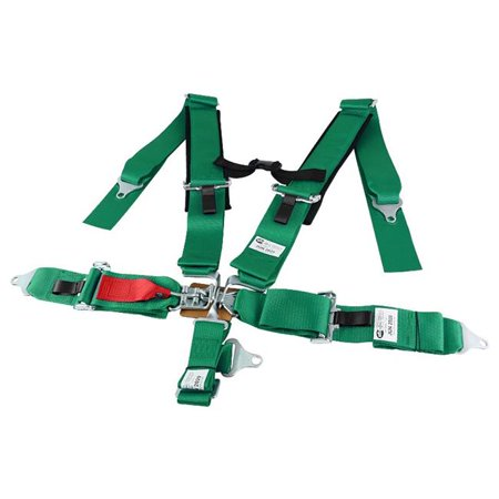 Spec D Tuning RSB-5PTG 5 Point Racing Seat Belt - Green (4 Point Seat Belts)