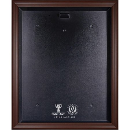 Mls Team Logo Framed (Atlanta United FC 2018 MLS Cup Champions Brown Framed Team Logo Jersey Display Case )