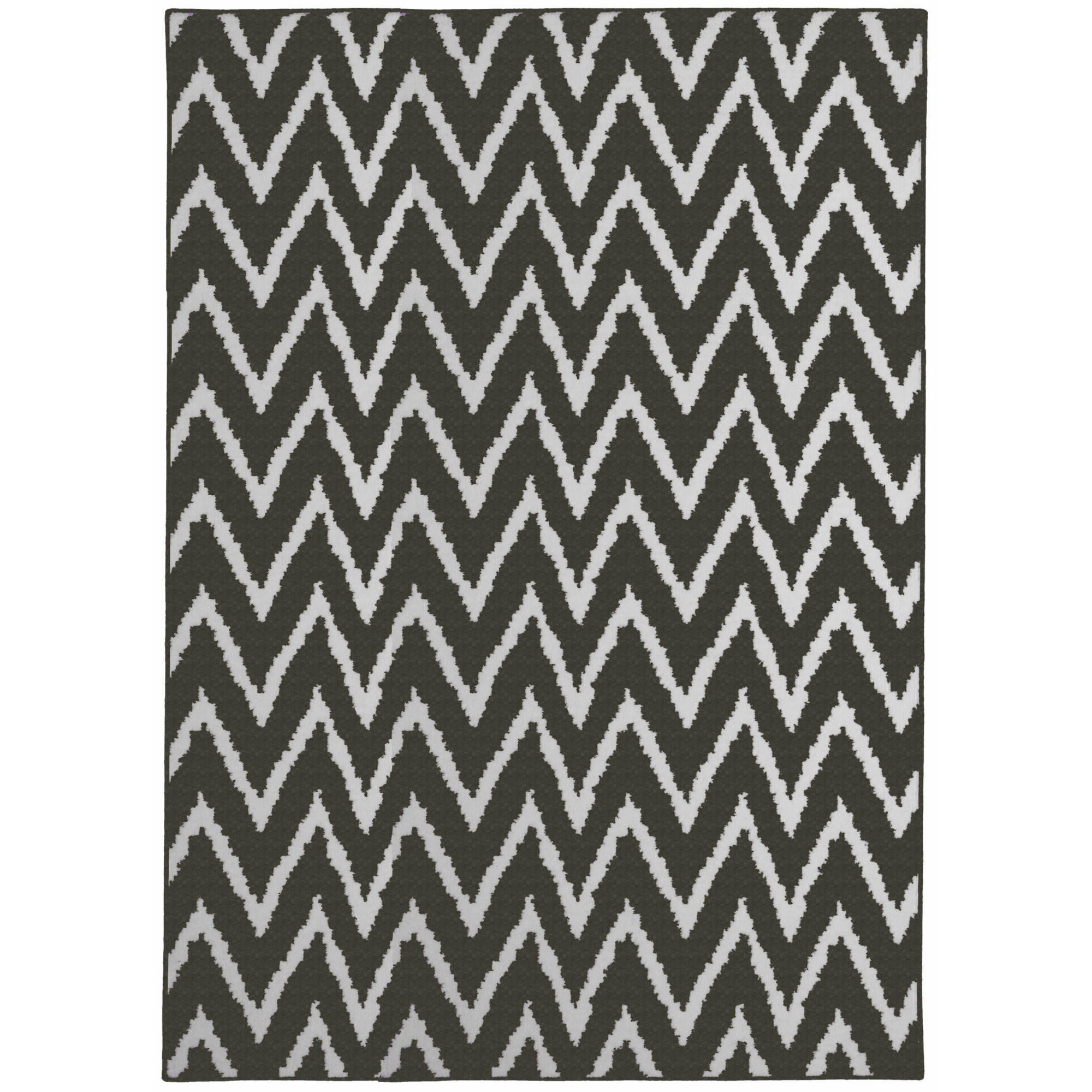 Mainstays Distressed Zig Zag Area Rug Image 2 Of 2