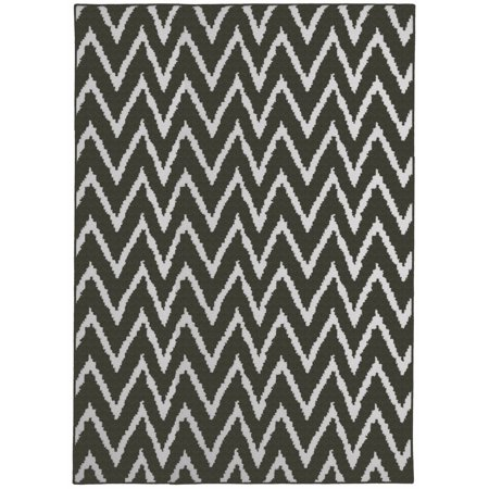 Mainstays Distressed Zig Zag Cinder Gray White 7 6 Quot X9 6
