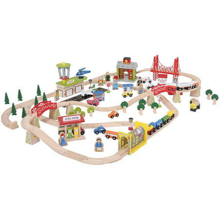 Rail Transportation Set - BigJigs Rail Bigjigs Rail BJT018 Transportation Train Set