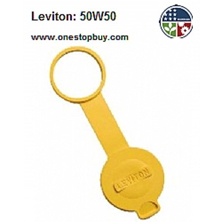 - Leviton 50W50 15A and 20A Straight 15A Locking Cap for Wetguard Connector - Yellow