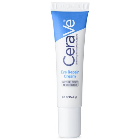 CeraVe Eye Repair Cream for Dark Circles and Puffiness, .5 (Best Cream For Wrinkles Around Eyes)