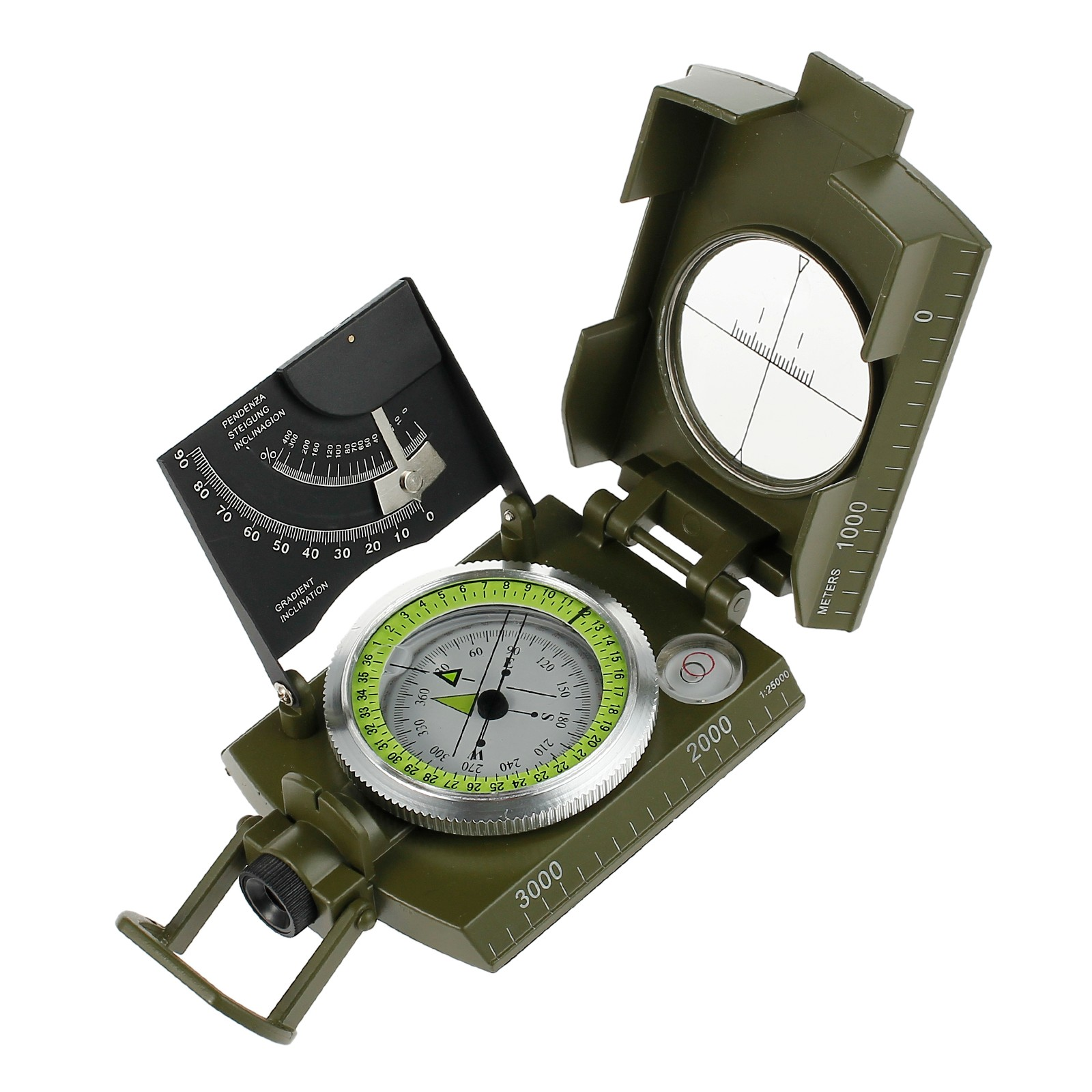 ESYNIC Professional Map Compass Military Army Metal Sighting Compass Folding Pocket Size Navigation Compass for Camping... by