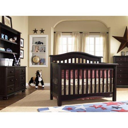Bonavita hudson lifestyle 4 in 1 convertible crib for Bonavita nursery furniture