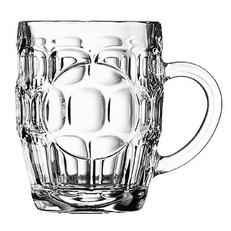 Traditional British Imperial half pint Dimple Beer Glass with etched seal. ()