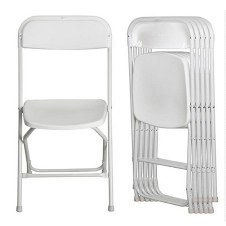 Ktaxon 5pcs Folding Camping Chairs White Plastic Stackable Wedding Party Event Chair ()