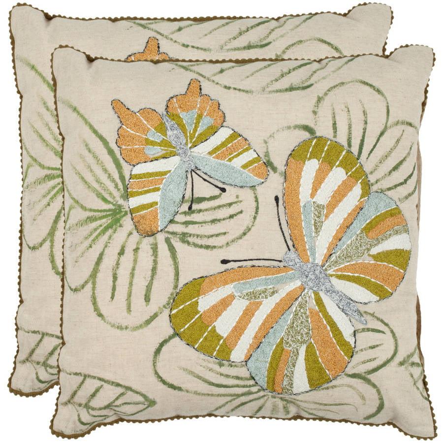 Safavieh Casandra Butterfly Pillow, Set of 2