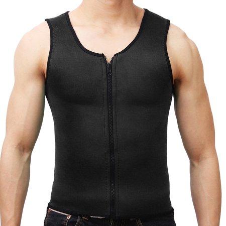 Men Body Shaper Slimming Waist Corset Belly Wrap Top Sport Fat Burner Sauna  - image 1 de 6