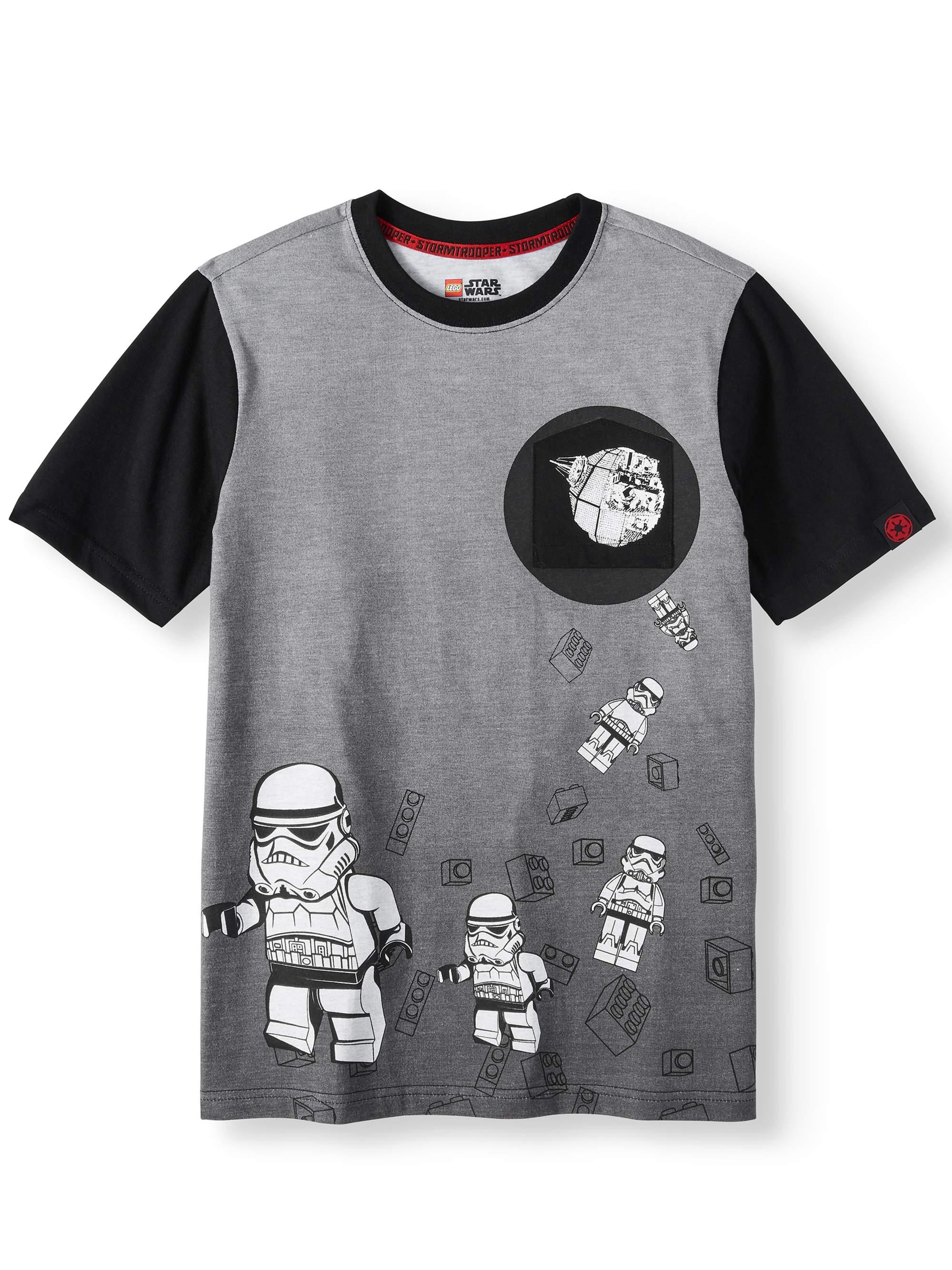 STAR WARS Storm Trooper Short Sleeve Pocket Tee (Little Boys & Big Boys)