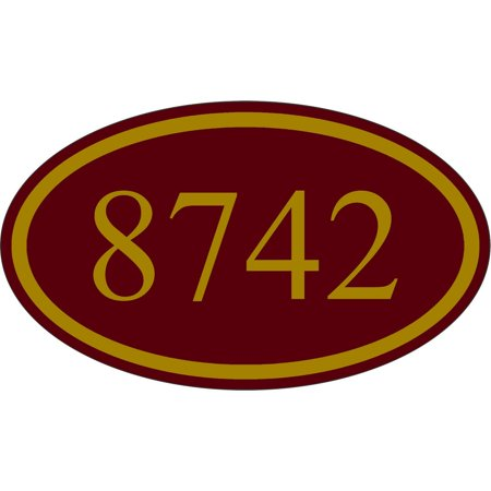 Traffic Signs - Personalized House Address Custom Plaque Burgundy And Gold Sign Heavy Duty 10 x 7 Aluminum Metal Sign Street Weather Approved (Custom Street Sign)