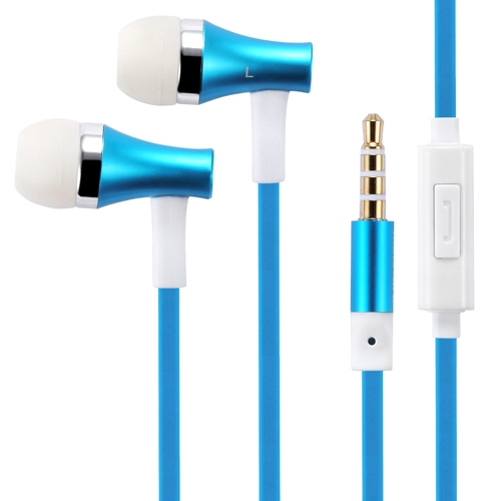 Premium Sound Blue Earbuds Hands-free Earphones w Mic Metal Headphones HEadset Compatible With Huawei Mate SE