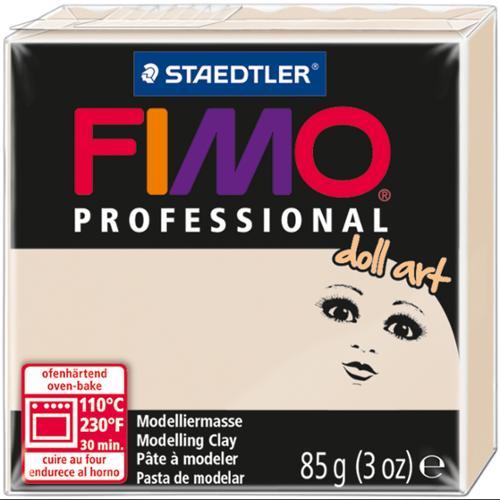 Fimo Professional Doll Art Clay 3oz-Beige Semi-Opaque