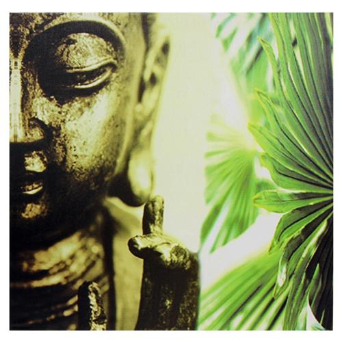 Oriental Home Golden Buddha Canvas Wall Art