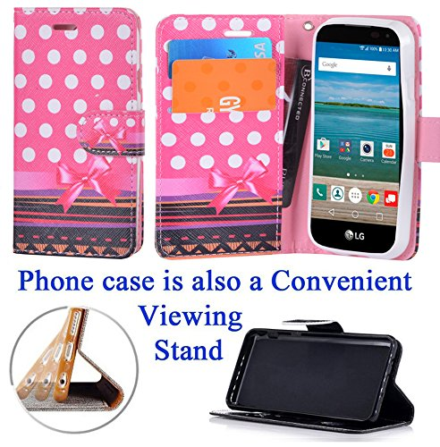 """for 4.5"""" LG Optimus Zone 3 SPREE Case Phone Case Designed Wallet Fold Kick stand Hybrid Pouch Pocket Purse Screen Flip Cover Crayon Tree"""