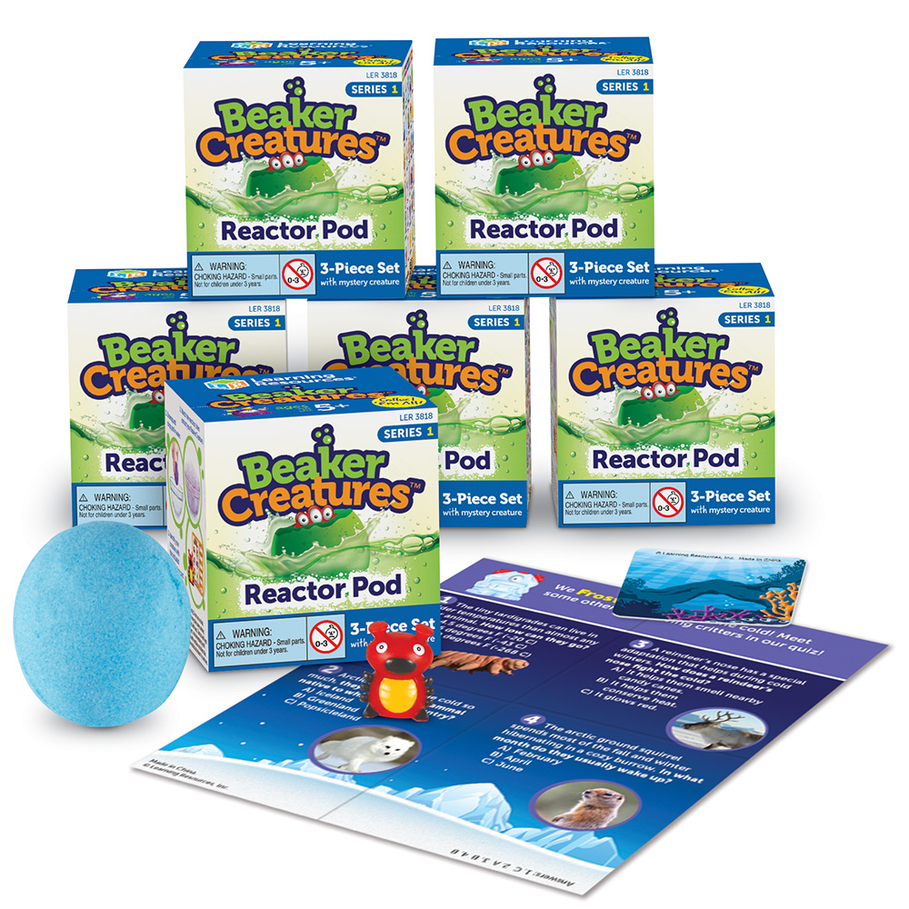Learning Resources Beaker Creatures Reactor Pod, Science Kit 6 Pack, Series 1