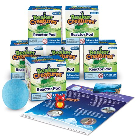 Learning Resources Beaker Creatures Reactor Pod, Science Kit 6 Pack, Series - Halloween Science Beakers