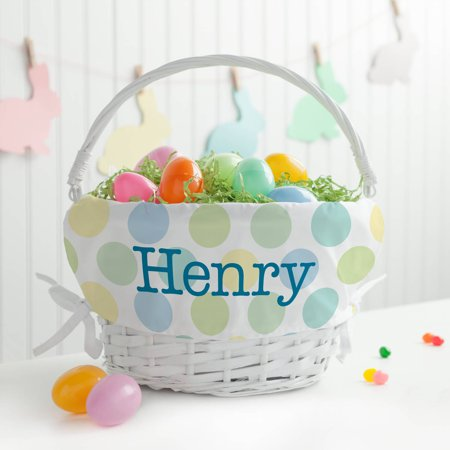 Personalized Polka Dots Boys' Easter Basket