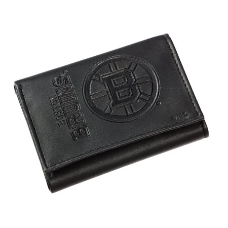 - Leather Boston Bruins Tri-fold Wallet