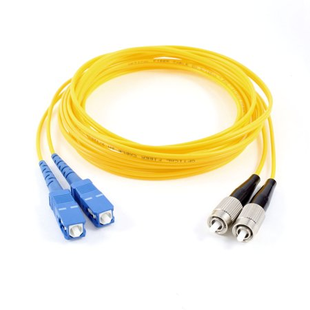 Duplex Single Mode Patch - SC-FC Male Single Mode Duplex Fiber Patch Cable Jumper  Replacement 9.8Ft
