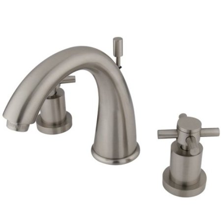 Kingston Br Ks2968dx Concord Widespread Lavatory Faucet 7 Inch Spout Reach Satin Nickel