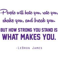 "Lebron James Basketball Wall Decal - Inspirational Sports Vinyl Sticker / Bedroom Decor - 20""x16"""